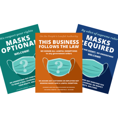 Business Face Masks Required Sticker